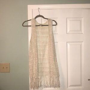 Size S Crochet and Fringe Vest